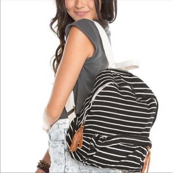 c4a1fde8b0 Brandy Melville Bags | John Galt Striped Mini Backpack | Poshmark